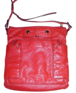 Marc by Marc Jacobs Multi - Cherry Red, White and Turquoise Blue Messenger Bag