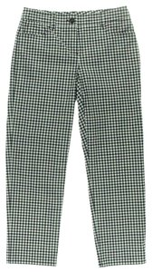 Theory Capri/Cropped Pants Black White Gingham