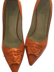 Versace Orange Pumps