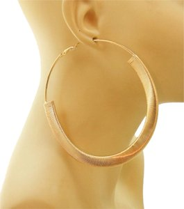 Other MODERN EDGE'S LARGE GOLD-TONE HOOP EARRINGS