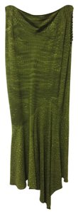 John Galliano Alligator Print France Trumpet Maxi Skirt Green