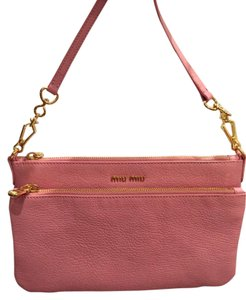Miu Miu Messenger Madras Leather Cross Body Bag