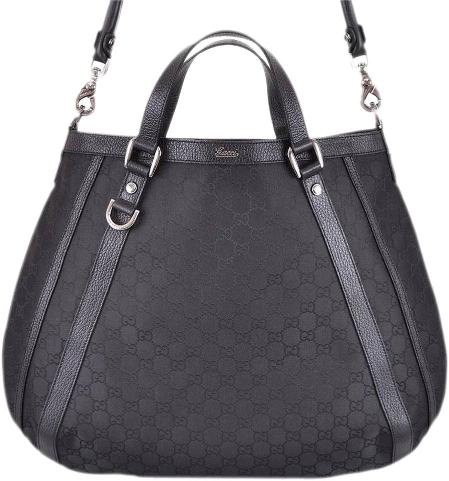 afdaf9fb7 Gucci 268641 Nylon Abbey Gg Guccissima Convertible D Ring Purse New Hobo Bag  Image 0 ...