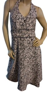 AB Studio Circle Graphics Halter Dress