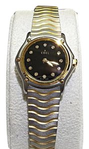 Ebel Diamond Dial 18 Karat Gold & Stainless Steel Ladies Watch