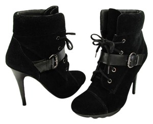 Guess Size 7.50 M Suede Leather Black Boots