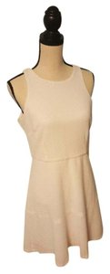 Jessica Simpson short dress White Textured Fit-and-flare Tennis Office on Tradesy