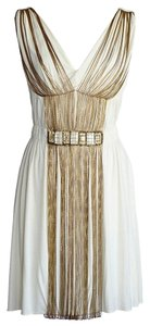 Alberta Ferretti Chains Stones 40 Dress