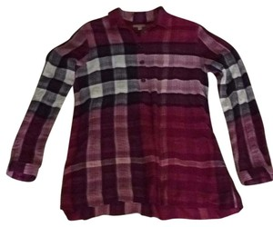 Burberry Brit Button Down Shirt Cranberry