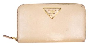 Prada Saffiano Leather Portafoglio Portamon Zip-Around Clutch Wallet