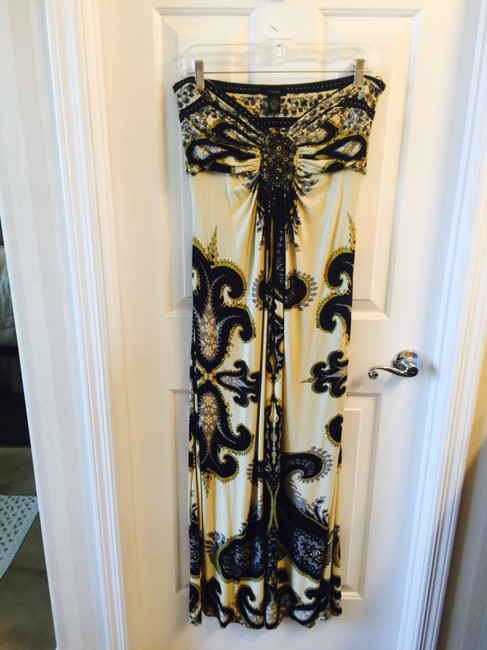 Yellow and black Maxi Dress by YASB
