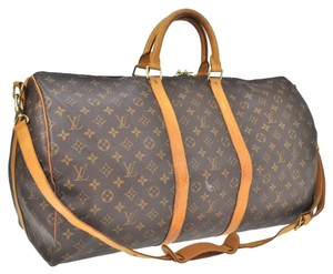 Louis Vuitton Bandouliere Keepall 55 Monogram Travel Travel Bag