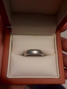 Custom Benchmark Milgrain Platinum Men's Wedding Band - Size 7.25