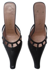 Prada Vintage Leather Work/casual Classic Same Day Shipping black Mules