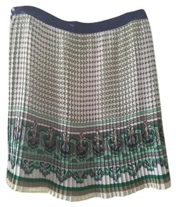Zara #blue Skirt Multi-Color Print