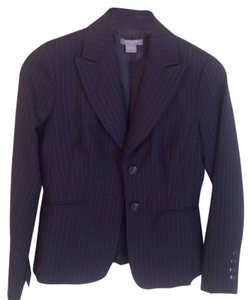 Ann taylor Ann Taylor navy Pintripe Fitted Blazer Excellent Pre-Owned Condition