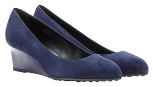 Tod's Navy Wedges