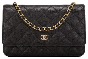 Chanel Woc Cc Caviar Black Cross Body Bag