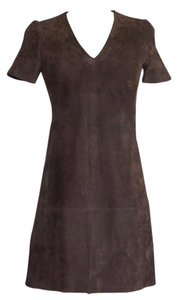 Balenciaga Suede A Line Dress