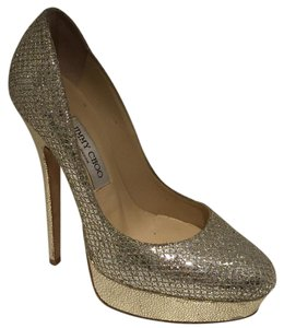 Jimmy Choo Gold, silver, champagne Pumps