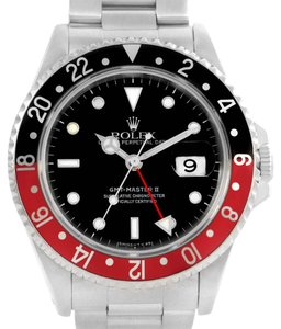 Rolex Rolex GMT Master II Black Red Coke Bezel Date Watch 16710