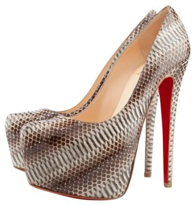 Christian Louboutin Daffodile Pumps Watersnake Platforms