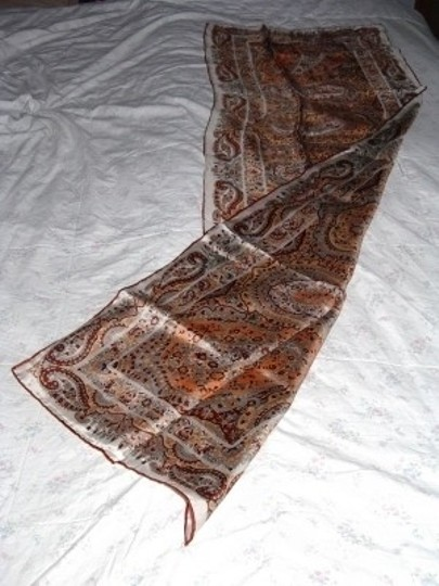 Other Vintage 1970s Paisley Silk Scarf