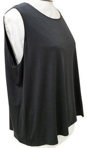 Eileen Fisher R2vf-u0580x Jewel Neckline Sleeveless Top Graphit