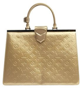 Louis Vuitton Vernis Satchel in Beige