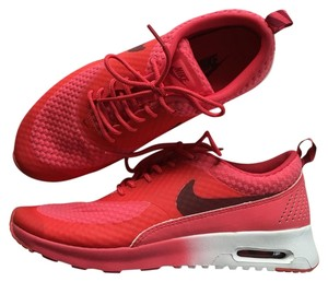 best service 77998 c7cab Nike Athletic. Nike Women s Air Max Thea Premium Red + White ...