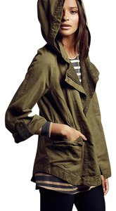 Anthropologie Military Utility Parka Lace Military Jacket