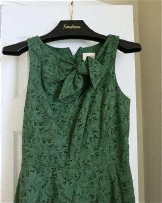 Tracy Reese Emerald Neiman Marcus Shift Daytime Evening Wedding Eyelet Emerald Kelly Cocktails Wedding Guest Knee Length Dress