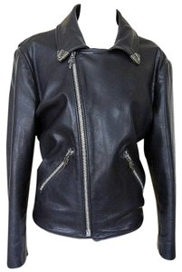 Chrome Hearts Leather Sterling Silver Vintage Motorcycle Jacket