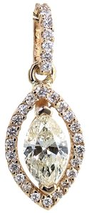 ABC Jewelry Accented marquise diamond pendant