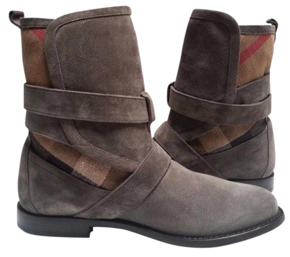 Ladies Stylish Burberry Grey Worcester Boots/Booties Stylish Ladies a9470b