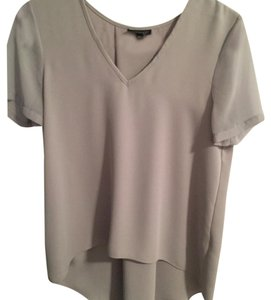 Topshop Hi Lo Top Gray