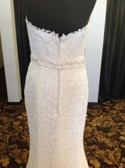 Tony Bowls for Mon Cheri Ivory Lace T112247 Vintage Wedding Dress Size 10 (M)