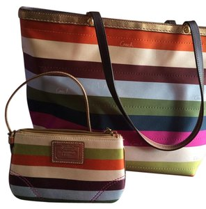 Coach Vintage Retro Tote in multi/gold