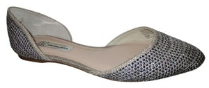 INC International Concepts Studded Rhinestone tan & silver Flats