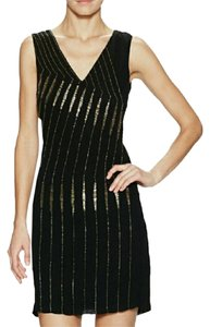 French Connection Beaded Evening Unique Wave Dress