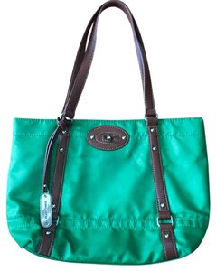 Franco Sarto Handbag Tote in Green with brown trim