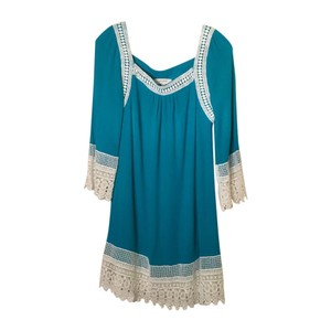 Umgee short dress Teal Lace Crochet on Tradesy
