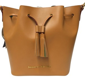 Dooney & Bourke Drawstring Bucket Leather Shoulder Bag