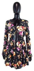 Kendall + Kylie short dress Multi-Color & Long Bell Sleeve Floral Above Knee on Tradesy