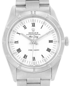 Rolex Rolex Oyster Perpetual Air King White Roman Dial Watch 14010