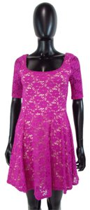 Gianni Bini short dress Fuchsia Floral on Tradesy