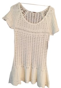 Free People short dress white Knit on Tradesy