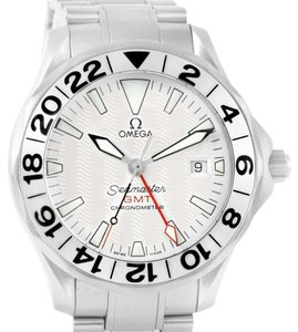 Omega Omega Seamaster GMT White Dial Steel Mens Watch 2538.20.00