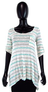 Blu Pepper Striped 3/4 Sleeve Top