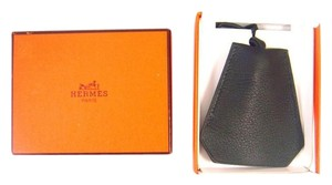 Hermès Leather Clochette Necklace Key Ring Strap w/ Box